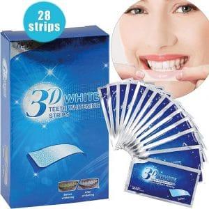 3D White Teeth Whitening Strips